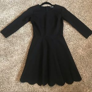 Lulus stretch 3/4 sleeve black dress